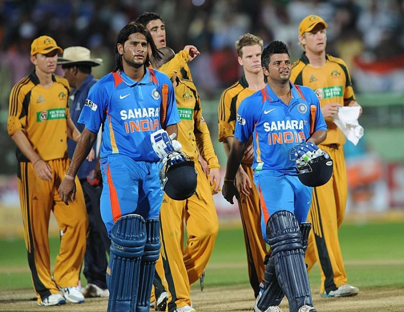 Saurabh Tiwary made his ODI debut against Australia