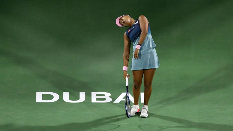 Naomi Osaka shows her frustration in Dubai