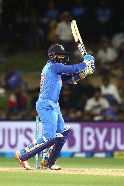Dinesh Karthik in the New Zealand v India - ODI Game 3