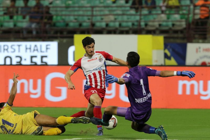 Edu Garcia did have an impact in his first game after the transfer to ATK against Kerala Blasters (Image Courtesy: ISL)