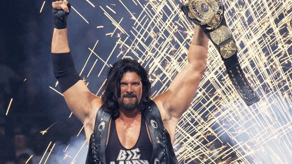 Kevin Nash with the WWE World championship.