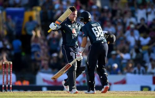 Centurions Jason Roy and Joe Root led the visitors to a stunning chase over West Indies in the 1st ODI