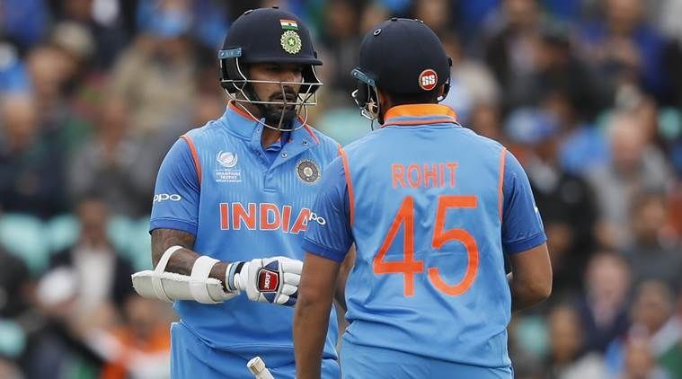 Dhawan and Rohit Sharma