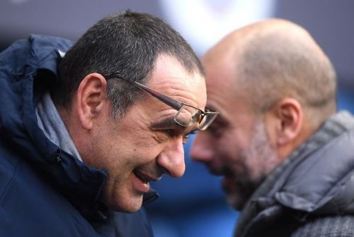 Chelsea boss Maurizio Sarri is under severe pressure ahead of the league cup final against Pep's City