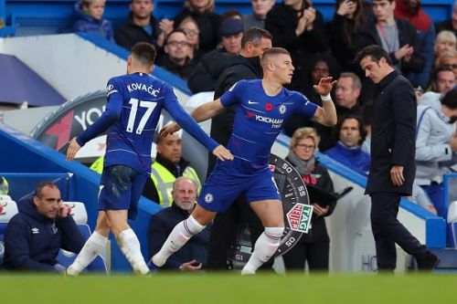 Ross Barkley and Mateo Kovacic replacing each other has become a common sight this season