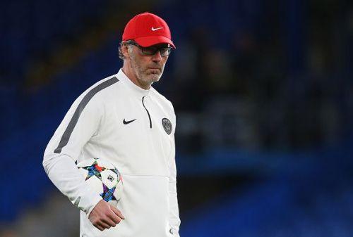 Laurent Blanc in PSG training session