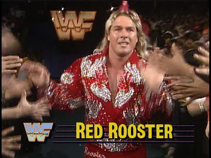 Terry Taylor was never able to live down his gimmick change, the Red Rooster. Cock a doodle do!