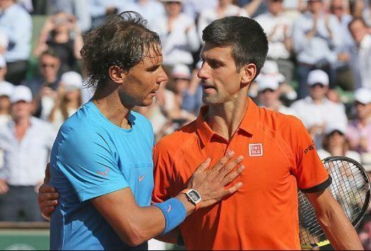 Rafael Nadal and Djokovic