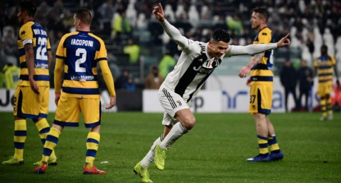 Ronaldo is now the top scorer in Serie A with 17 goals
