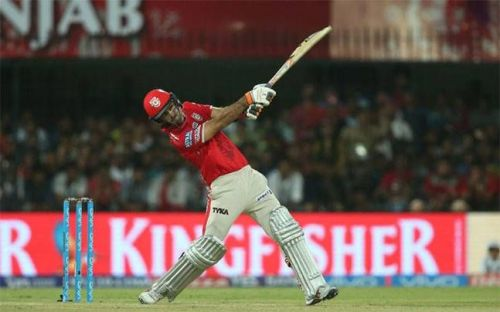 Maxwell's big innings could not help KXIP win the match against the Knight Riders
