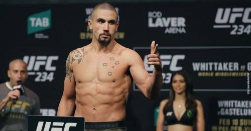 Robert Whittaker is on the sidelines with an unfortunate abdominal hernia