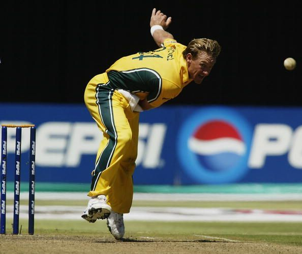 Andy Bichel of Australia in action