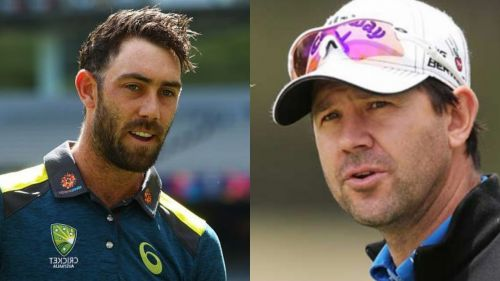 Maxwell (left) has always idolized Ponting (right)