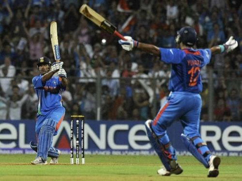 MS Dhoni's winning shot in the 2011 World Cup finals