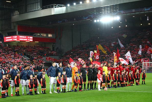 Liverpool were held to a draw by Bayern at the Anfield in the first leg
