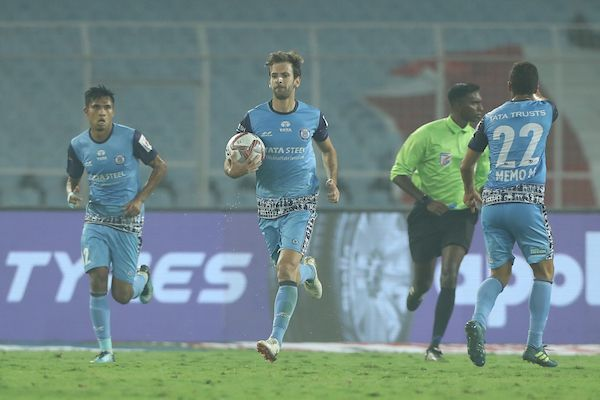 Mario Arques of Jamshedpur FC after scoring against ATK (Image: ISL Media)