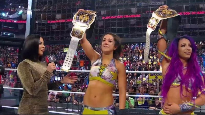 Bayley and Sasha Banks