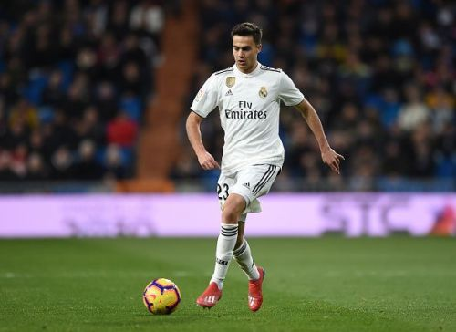 Reguilon in action against Deportivo Alaves - La Liga