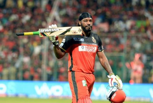 Chris Gayle has scored five centuries for RCB