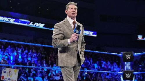 """Mr. McMahon addresses the WWE Title Match between """"The New"""" Daniel Bryan and AJ Styles this Sunday…"""