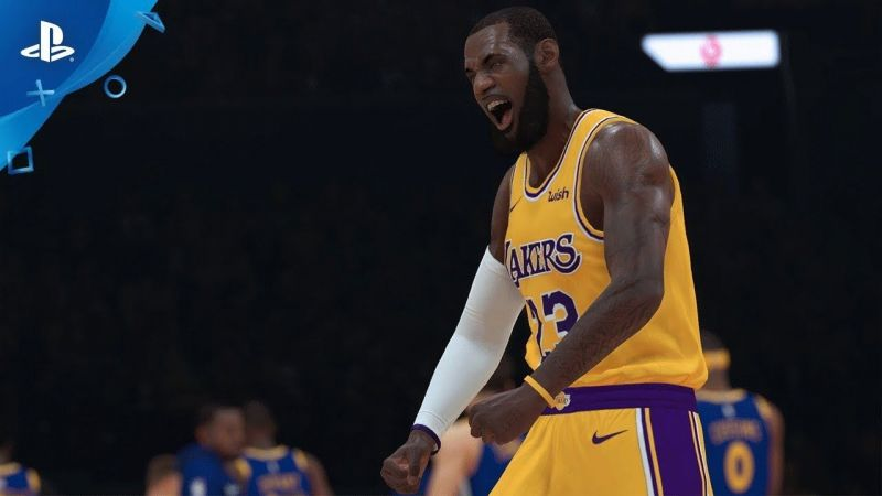 4f901321fa9 A still from the trailer of the My Career story for NBA 2K19, featuring  Lakers