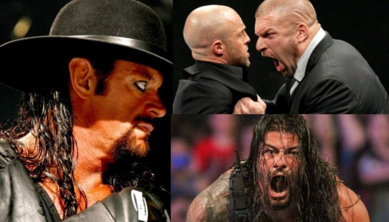 The Undertaker, Triple H, and Roman Reigns have all handed out