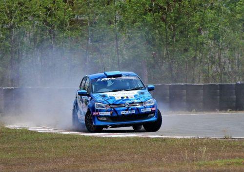 INRC 2 Champion Karna Kadur in action - South India Rally 2018