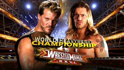 Edge and Chris Jericho feuded over the World Heavyweight title at Wrestlemania 26