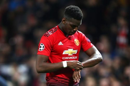 Paul Pogba was sent off during the game