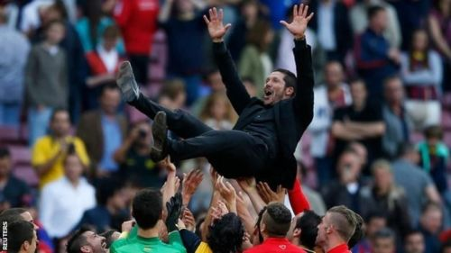 Simeone is adored in this part of the Spanish capital