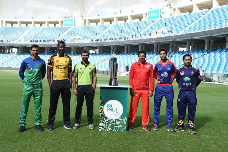 Captains with the PSL Trophy
