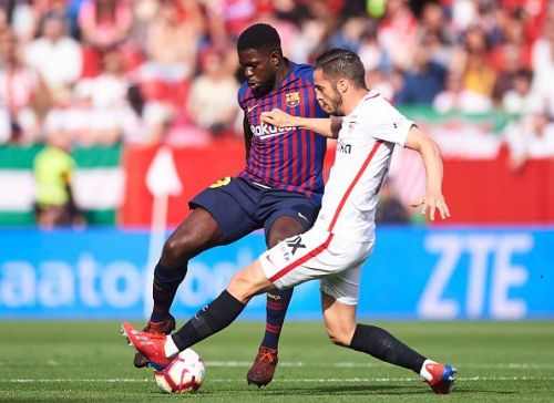 Umtiti was not at his sharpest against Sevilla, as the lack of match practice showed on the pitch