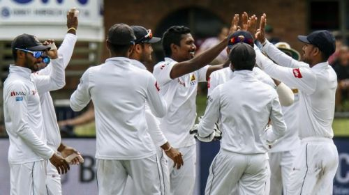 Image result for Sri Lanka winning their first Test series win on South African soil