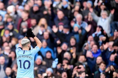 City legend Sergio Aguero has been in red-hot form following his recent trebles against Arsenal and Chelsea