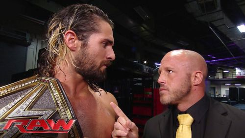 Mercury worked with Jamie Noble as J&J Security, often assisting then-WWE World Champion Seth Rollins.