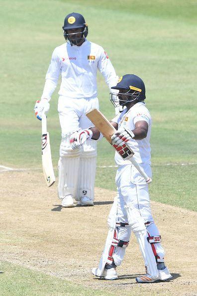 Kusal Perera scored an unbeaten 153 in the fourth innings of the match, South Africa v Sri Lanka- 1st Test