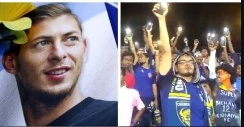 Chennaiyin FC fans turned on their flashlights to honour Emiliano Sala