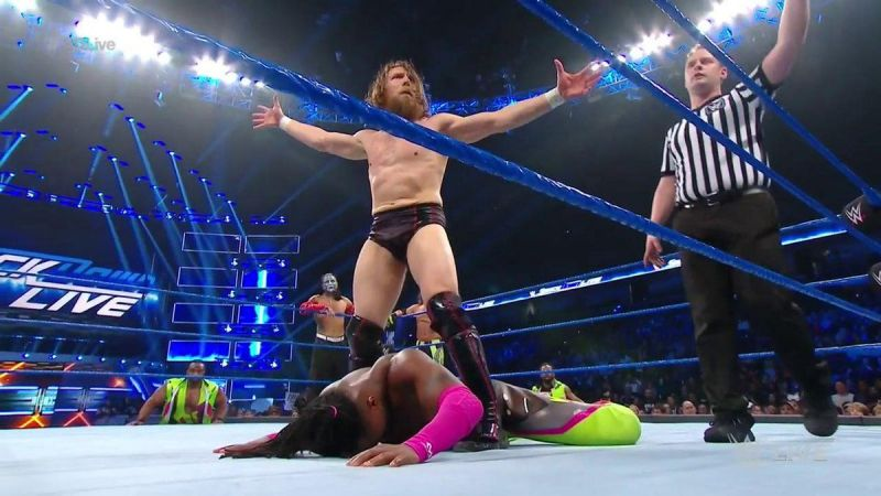 Daniel Bryan and Kofi Kingston during the main event match