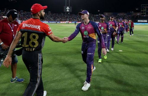 Virat Kohli and Steven Smith in the IPL