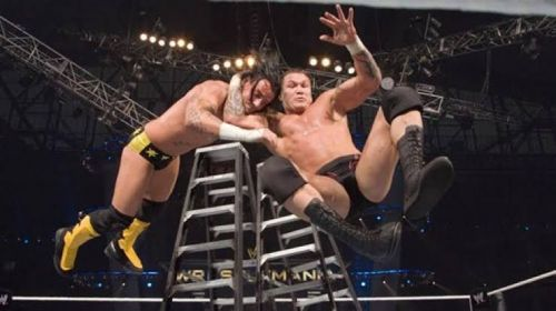 RKO from the top of the ladder!