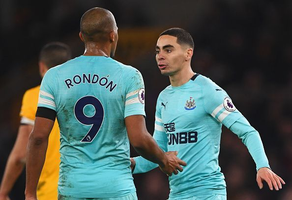 Almiron was impressive on his debut for Newcastle