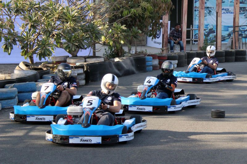 Karting session during the Ameo Cup selections
