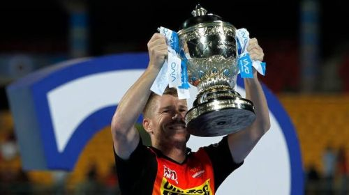 David Warner won the IPL trophy in 2016 with Sunrisers Hyderabad