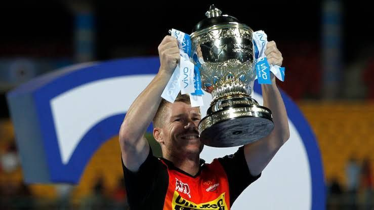 David Warner won the IPL trophy in 2016 with Sunrisers Hyderabad