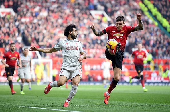 Salah was left constantly frustrated by a determined United backline