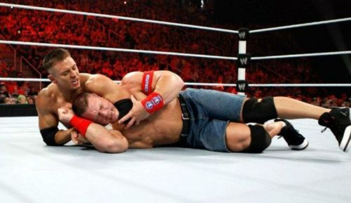 Alex Riley and John Cena