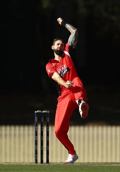 Australia'sKane Richardson in action; SA v TAS - JLT One Day Cup