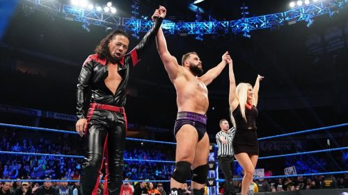Shinsuke Nakamura, Rusev, and Lana