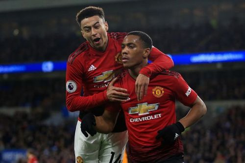 Anthony Martial and Jesse Lingard picked up knocks against Paris Saint-Germain and will miss some crucial fixtures for the Red Devils