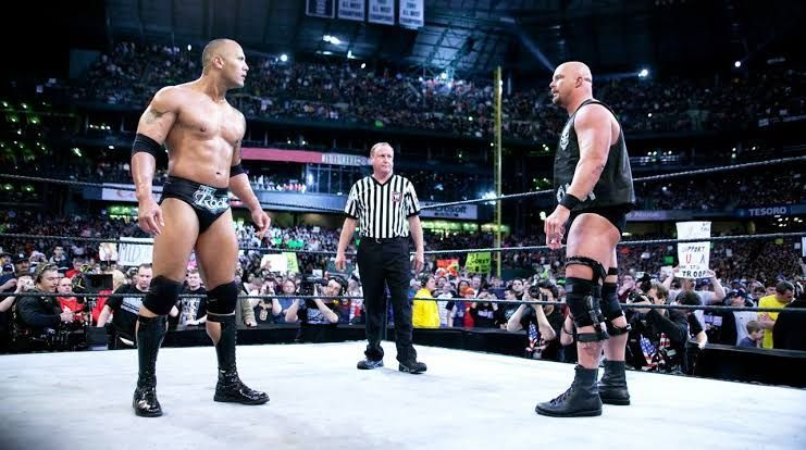 The faceoff at WrestleMania 19!
